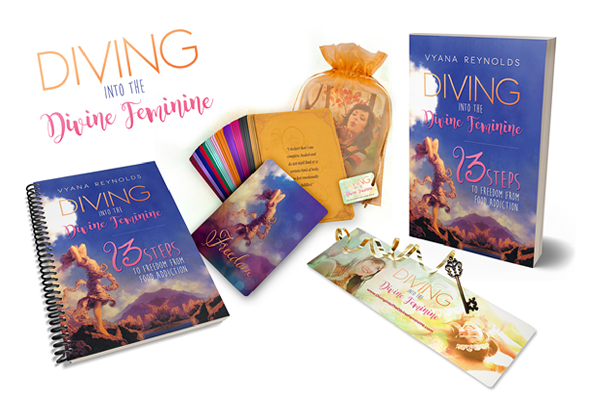 Diving into the divine feminine complete package book cards journal bookmark